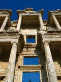 Library at Ephesus. Old library in the ancient city of Ephesus Royalty Free Stock Photos