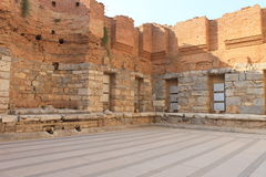 Library in Ephesus antique ruins of the ancient city in Turkey Royalty Free Stock Photos