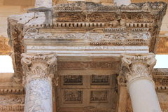 Library in Ephesus antique ruins of the ancient city in Turkey Royalty Free Stock Images