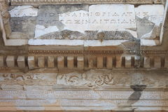 Library in Ephesus antique ruins of the ancient city in Turkey Stock Image