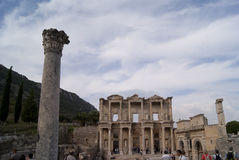 The library in Ephesus Stock Photos