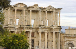 The Library of Ephesus. The ruins of library of ancient Greek city Ephesus in western Turkey Stock Images