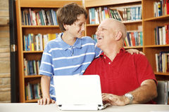 Library - Family Fun Stock Images