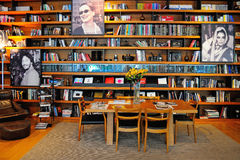 Library of the famous Astoria 7 Hotel, dedicated to the stars of Hollywood Royalty Free Stock Images