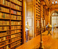 Library. The library of Festetich Castle in Keszthely, Hungary stock image