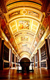 Library of Fontainebleau palace royalty free stock photos