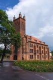 Library (former Church of st.Nicolas) in Slupsk, Poland. Royalty Free Stock Photos