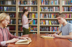 Library goers Stock Photo