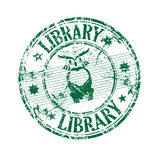 Library grunge rubber stamp Stock Images