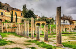 The Library of Hadrian in Athens Stock Images