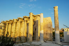 Library of Hadrian Stock Image