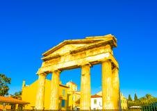 Library of Hadrian Augustus Stock Photos