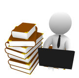 Library. High Class rendered figure for perfect message transportation Royalty Free Stock Photo