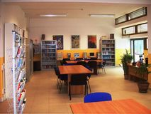 Library in high school Stock Image