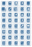 Library icon set Royalty Free Stock Images