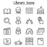 Library icon set in thin line style. Vector illustration graphic design vector illustration