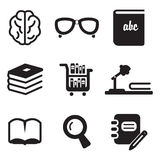 Library Icons Stock Image