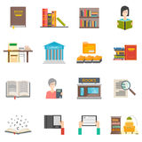 Library icons set Royalty Free Stock Photography