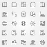 Library icons set Stock Photography