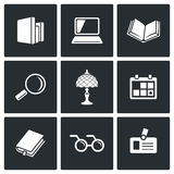Library icons. Vector Illustration Stock Photos
