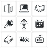 Library icons. Vector Illustration Royalty Free Stock Images