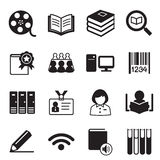 Library icons Vector illustration symbol Royalty Free Stock Photo