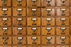 Library Index Card files Stock Image