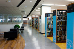 Library interior. The new design of the library interior royalty free stock image