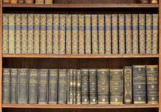 Library interior. A view of the stacks in the library Royalty Free Stock Photography