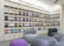 Library interior for background. Abstract blur public library interior for background stock image
