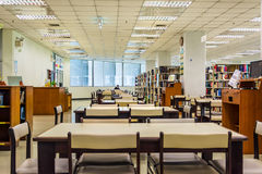 Library interior of Chulalongkorn University, the oldest univers Stock Photography