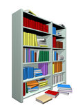 Library. Isolated in withe background Royalty Free Stock Photography