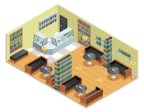 Library Isometric Illustration vector illustration