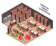 Library Isometric Illustration stock illustration