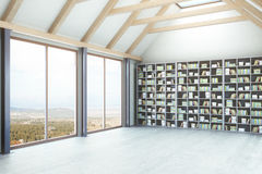 Library with landscape view side Stock Image