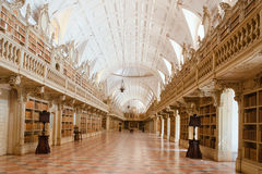 Library in the Mafra National Palace, Portugal Royalty Free Stock Photo
