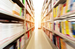 Library. Modern libraries and bookshelves, Motion Blur Stock Photos