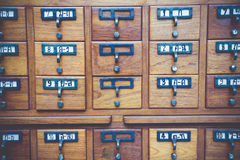 Library. New Library Card Catalog for Search Books Royalty Free Stock Photography