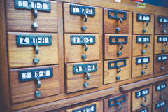 Library. New Library Card Catalog for Search Books Stock Photography