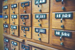 Library. New Library Card Catalog for Search Books Royalty Free Stock Photo