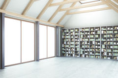 Library with no view side Stock Photo
