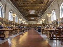 Library NY. New York, inside of  Public Library Royalty Free Stock Photos