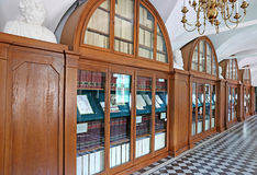 Library of Nyasvizh castle in Belarus Royalty Free Stock Photography