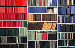 In library. Old books and journals in library Royalty Free Stock Photography