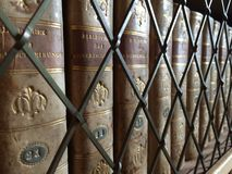 Library. Old books in library shelf Royalty Free Stock Image
