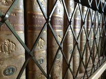 Library. Old books in library shelf Royalty Free Stock Images