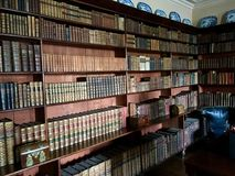 The Library. Old Library in Springhill house. Springhill House, a 17th-century plantation house in the townland of Ballindrum near Moneymore, County Londonderry Stock Photo