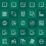 Library outline icons Royalty Free Stock Images