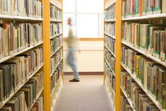 Library patron Royalty Free Stock Image