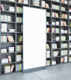 Library with poster side Stock Images
